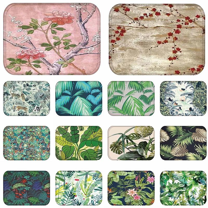 40x60cm Autumn Spring Plants Flower Anti Slip Floor Mat