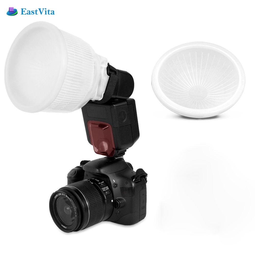 EastVita Universale Flash diffusore Copertura Universale lambency flash diffusore Bianco coperchio a cupola e si adatta tutti i flash Per Canon