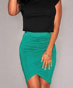 Hot Sexy Women's Slim Fitted Knee Length Straight Pencil Skirt High Waist Career Skirts 1