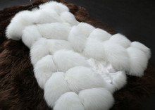 New Women Silver Fox Fur Vest gilet 2017 New Fur coat Women Slim Sleeve Full leather jacket Women Fox Fur Coat Winter Coat
