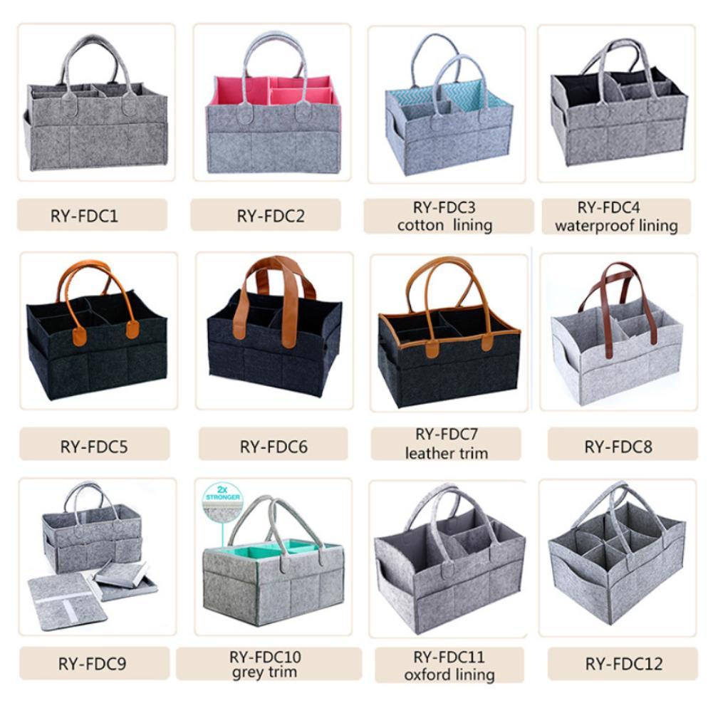 Baby Large Capacity Diaper Caddy Storage Organizer Bin Travel Tote Bag Basket For Baby Travel Diaper Bags