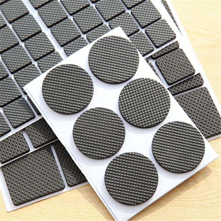 6PC Self-Adhesive Sole Protector Anti Skid Stick Shoe Grip Rubber Pads Black EAX