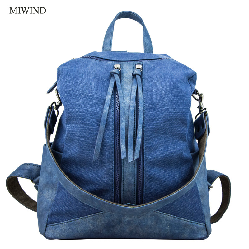 2017 MIWIND Women Backpack Canvas Backpacks Softback Bags Brand Name Bag Preppy Style Bag Casual Backpacks Girls Backpack WUB022017 MIWIND Women Backpack Canvas Backpacks Softback Bags Brand Name Bag Preppy Style Bag Casual Backpacks Girls Backpack WUB02