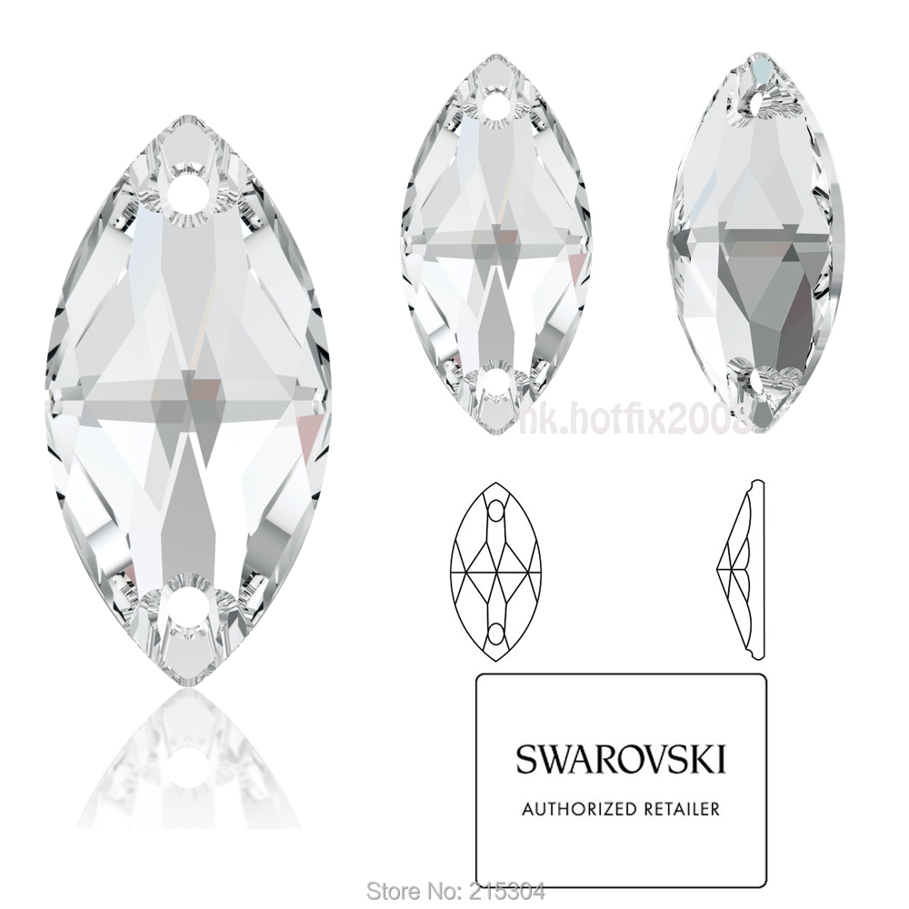 ( Pick you want ) Swarovski Elements 3223 Navette Crystal Clear ( 001 ) ( 2 1671d2cf5353