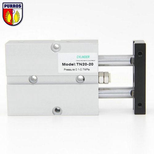 TN TDA 40 válec s dvěma tyčemi, otvor: 40 mm, zdvih: 10/20/30/40/50/60/70-Smm