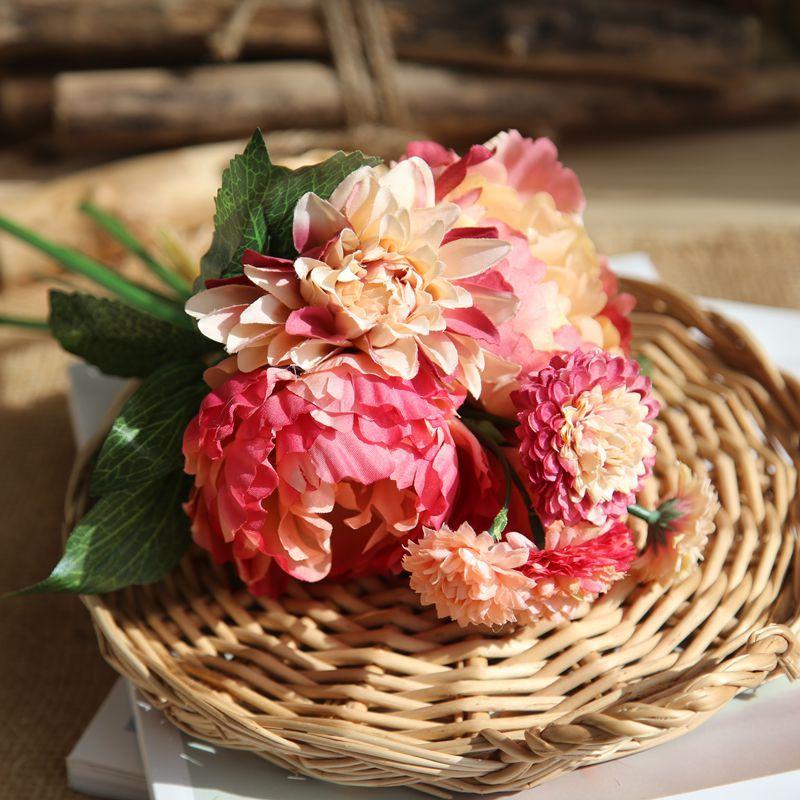 Korean Wedding Flowers: 2018 New Fashion Korean Style Peony Bouquet Handmade