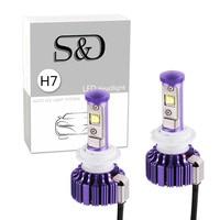 2PCS 60W 6 000Lm H7 Cree LED Headlight Bulbs Conversion Kit DIY Your Color Replaces Halogen