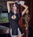 Pijamas de luxo Saia Lingerie Erótico Serva Roupa Interior Feminina Festa de Sexo Vestido Role Playing Traje do Estágio Vestido Perspectiva
