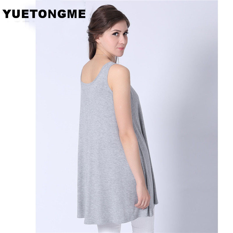 eb0a85e0029 Aliexpress.com   Buy YUETONGME XL 5XL Plus Size Women 5 color Tank Tops  Sleeveless Girl T shirt for wholesale Tank BTL112 from Reliable top  sleeveless ...