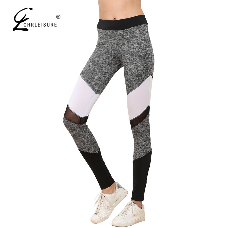 CHRLEISURE Sexy Mesh   Leggings   Women Workout Patchwork Leggins Casual Sporting Polyester Slim   Leggings   Pants Women S-XL 5 Color