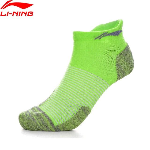Li-Ning унисекс беговые серии спортивные носки 53.9% полиэстер 37.1% чинлон 9% спандекс подкладка спортивные носки AWSP032 NWM444