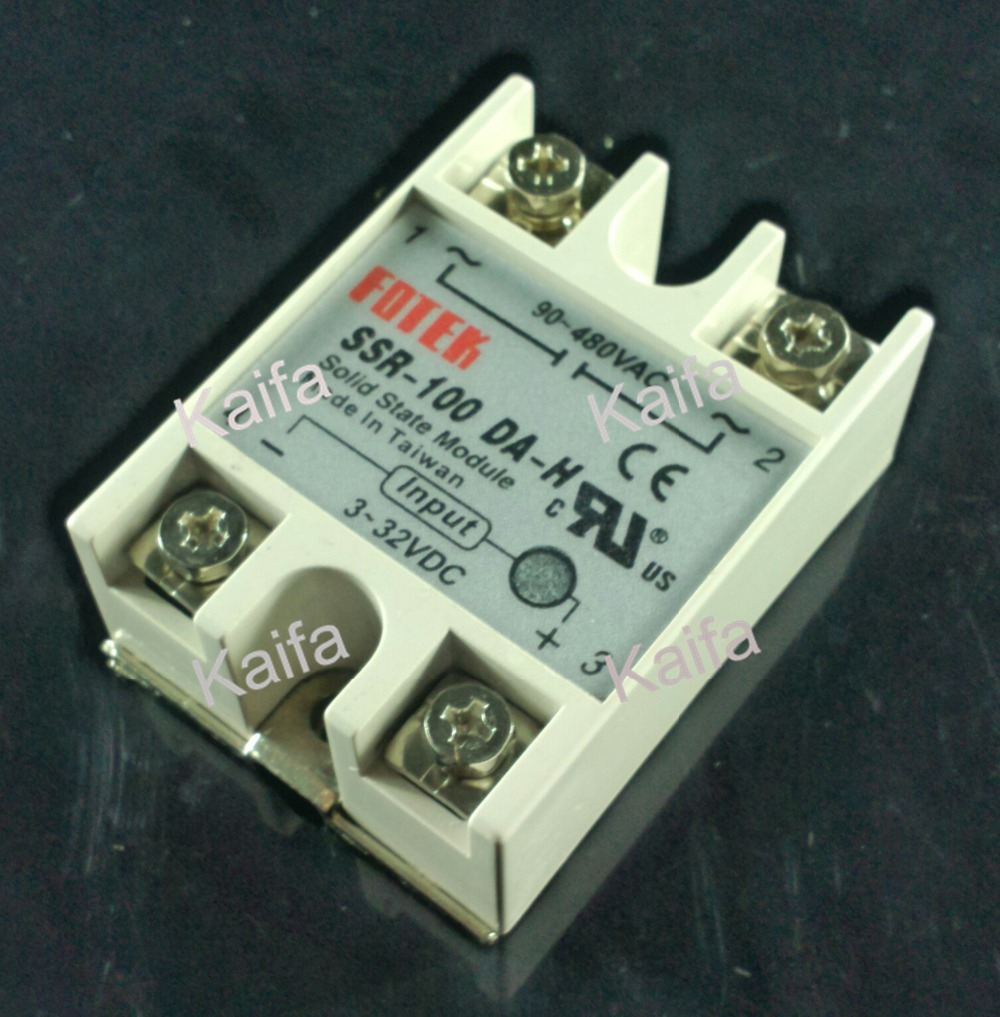 solid state relay SSR-100DA-H 100A SSR 100DA H DC TO AC relay solid state Resistance Regulator brand new dc to ac ssr 100da solid state relay module 100a 3 32vdc 24 380vac dc ac solid state relay