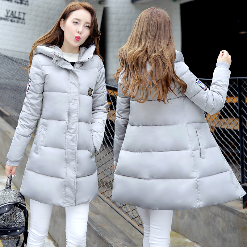 Winter warm women in Europe and the United States in the long paragraph down jacket cotton Slim cotton