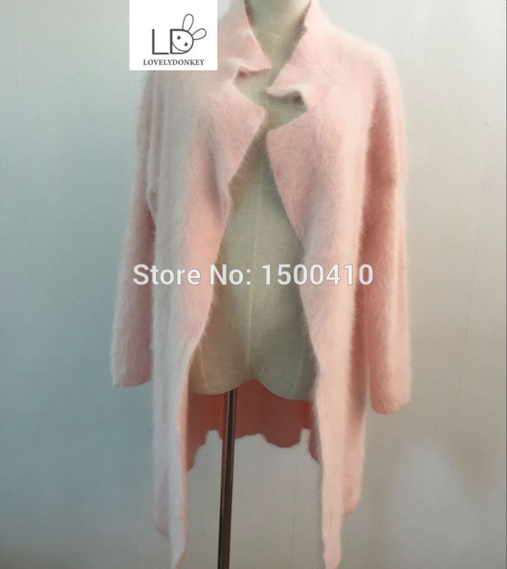 genuine mink cashmere sweater women pure cashmere cardigan knitted mink jacket fashion winter long fur coat free shipping M619