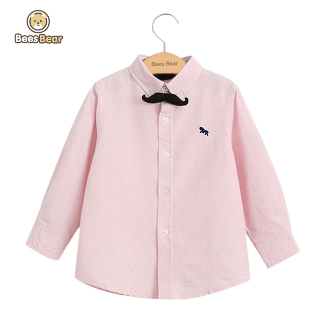 BeesBear 2016 Marca a Roupa Dos Miúdos para Meninos Das Meninas T-shirt Longo Fino Meninos Camisa de manga Arco Laço Embelezar Queda Primavera Tops T Camisas