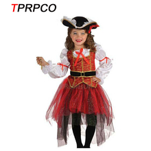 TPRPCO Halloween Christmas pirate costumes  girls party cosplay costume for children kids clothes C56157