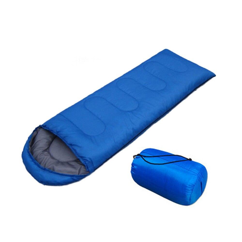 210*70 см конверт спальный мешок для взрослых Кемпинг Открытый Мини прогулки пляж спальные мешки Сверхлегкий дорожная сумка весна осень - Цвет: blue