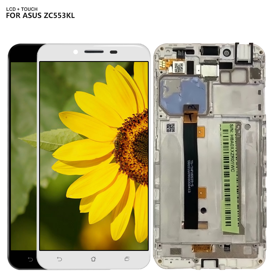 5.5 LCD Display For ASUS Zenfone 3 Max ZC553KL LCD Display Touch Screen Digitizer Assembly With Frame + Free Tools5.5 LCD Display For ASUS Zenfone 3 Max ZC553KL LCD Display Touch Screen Digitizer Assembly With Frame + Free Tools