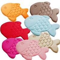Coral super macio velo thicking de peixe para crianças/kid rug mat látex não-deslizamento de apoio forte absorvente cozinha banheiro carpet pad