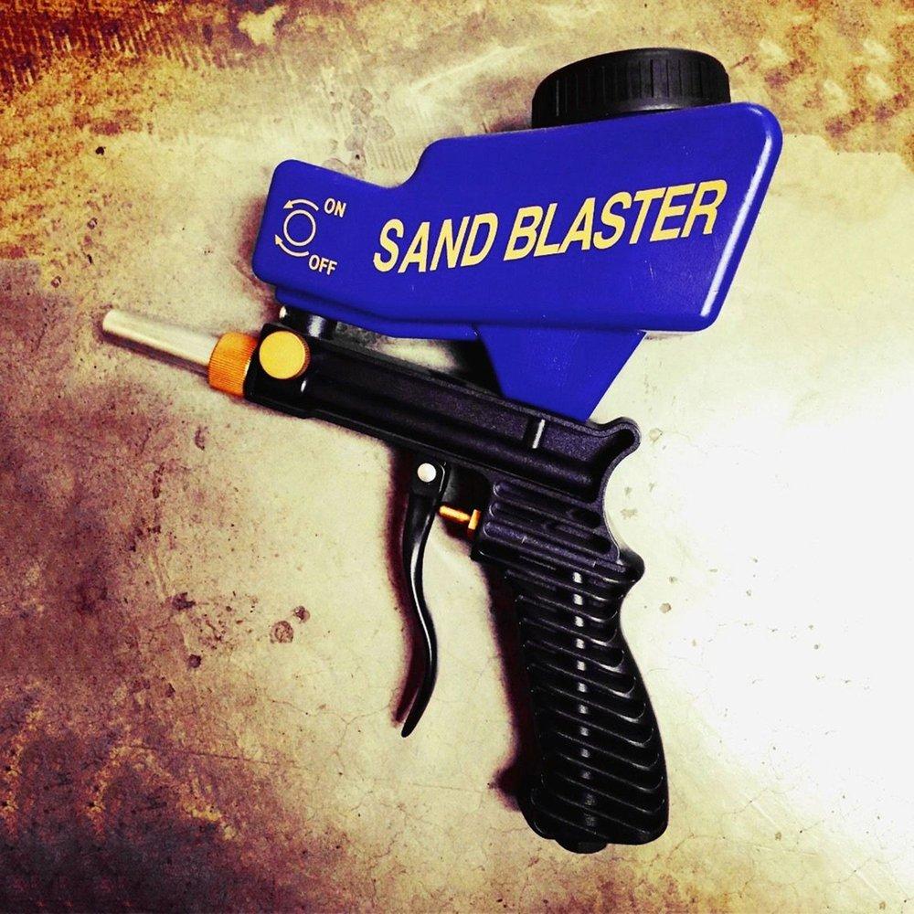 Самотеком Пескоструйная пистолет воздух Sandblast Портативный Скорость Blaster песок пистолет для удаления ржавчины пескоструйным