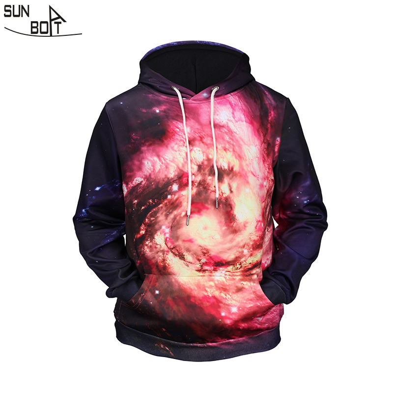 Sunboat 2017 New Arrivals Men font b women b font Hoodies Sweatshirts Winter 3D Printed Nebula