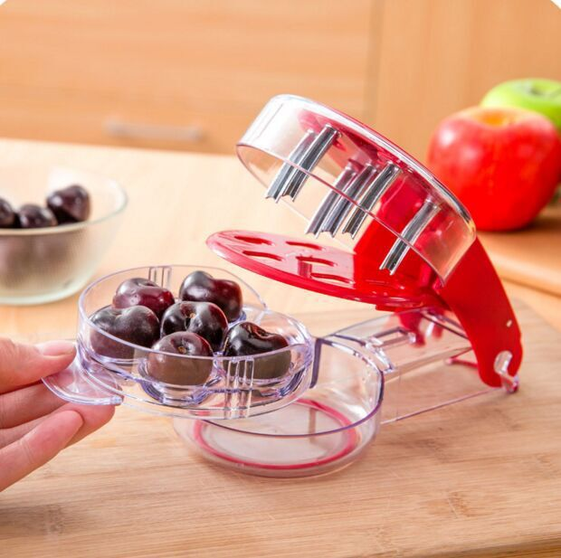 1 piece New Cherry pitter cherry take nuclear device food grade PP+ABS 6 cherriesin one fruit & vegetable tool Free shipping