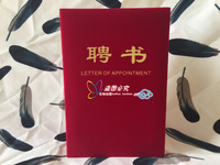 LETTER OF APPOINTMENT Customize Certificate Cover Flannelette Golden Foil Gold Plated Certificate Wholesale