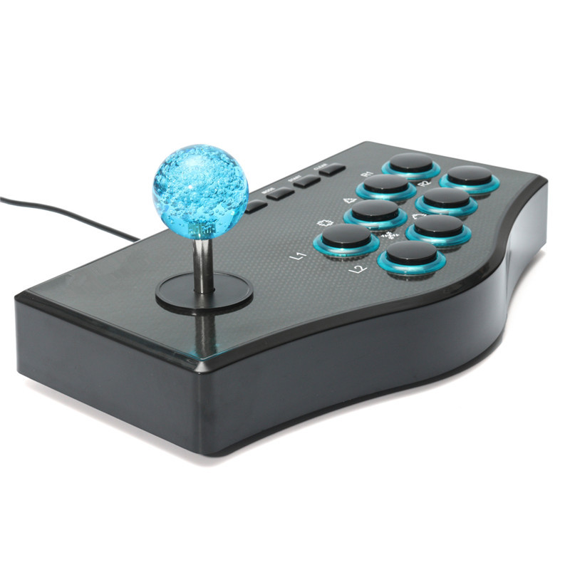 USB Fighting Stick Arcade Joystick Gamepad Rocker Game ...