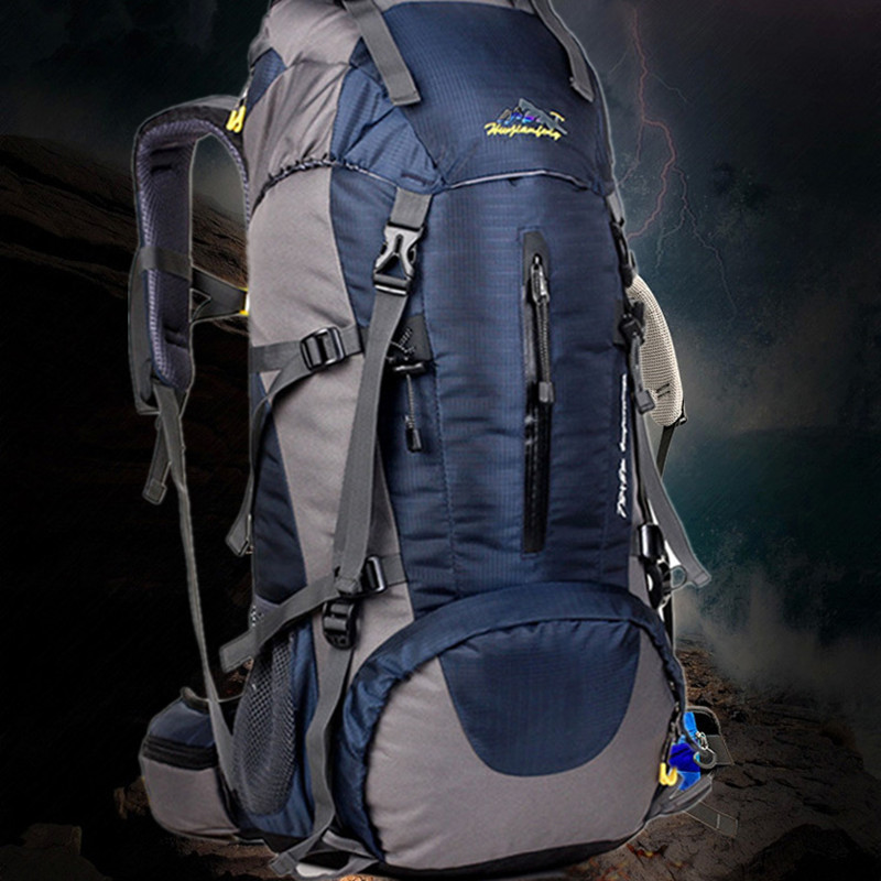 50L Men/Women Backpack Climbing Backpack Shoulder Bags Nylon Waterproof Camping Backpack Rucksack Hiking Trekking Bags Hot
