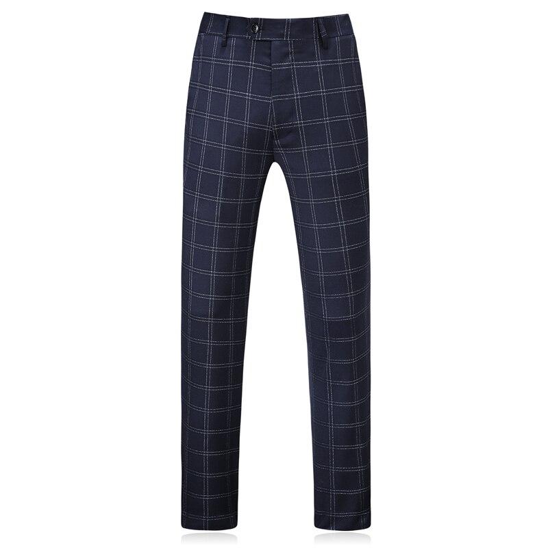 Plyesxale Elegant Plaid Suit Men 2018 High Quality Groom Wedding Tuxedo Jacket With Pants Slim Fit 3 Piece Business Wear Q379