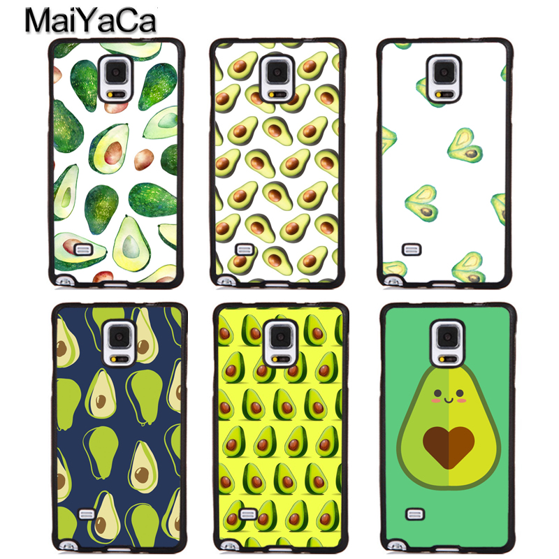 MaiYaCa Avocado Funny Printed Soft Rubber Phone Cases OEM For Samsung Galaxy S5 S6 S7 edge plus S8 S9 plus Note 4 5 8 Cover