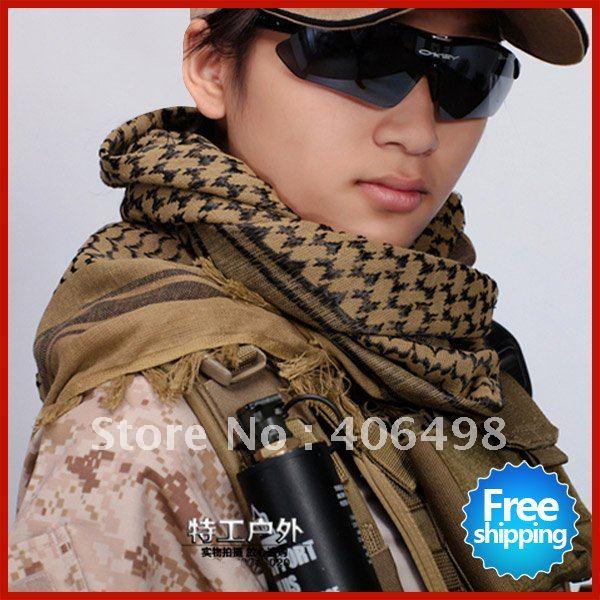 Envío gratis personalidad guapo bufanda árabe militar, bufandas ...