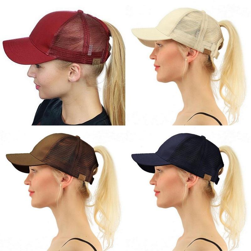 86cacac3a47 Summer CC Glitter Ponytail Baseball Snapback Cap Dad Hats for Women ...