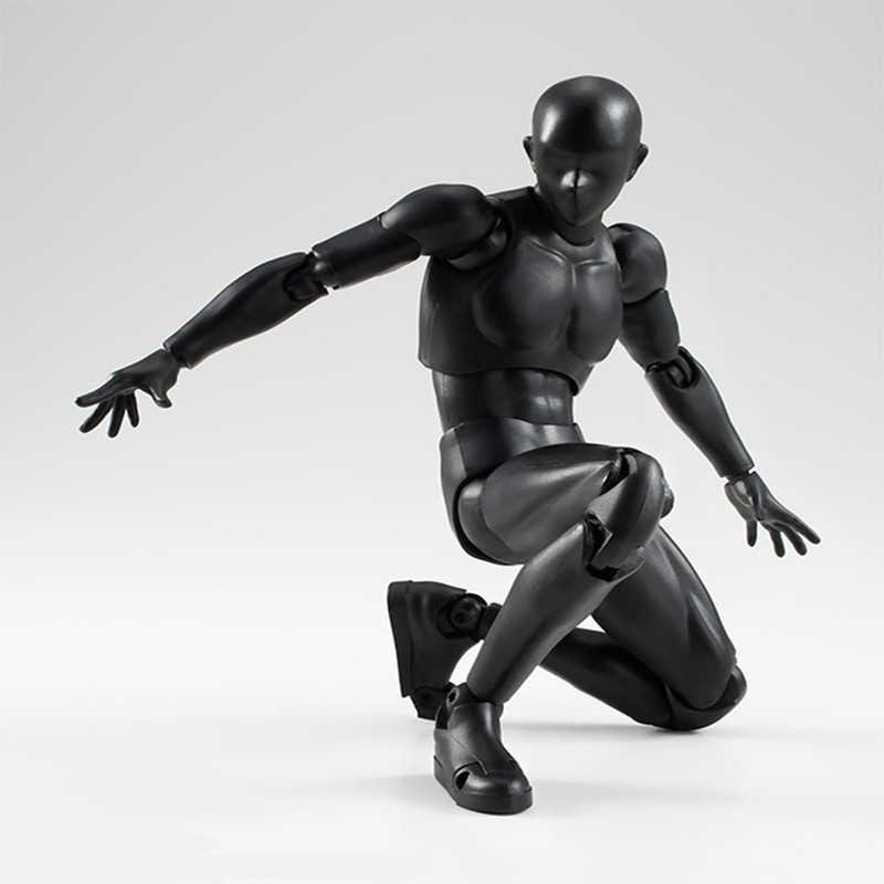 14cm artista arte pintura anime figura shf esboço desenhar masculino feminino corpo móvel chan conjunta figura de ação brinquedo modelo desenhar manequim