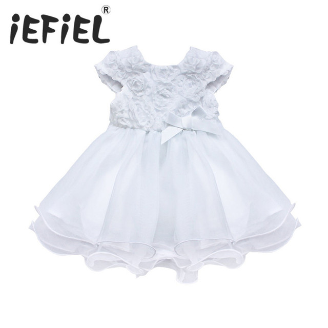 Iefiel Fashion Formal Newborn Lace Tutu Dress Baby Girls Flower