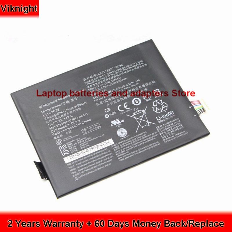 Genuine L11C2P32 battery for Lenovo A10-70 IdeaTab S6000 S600H S6000-H 6340mAh 23Wh аксессуар чехол lenovo ideatab s6000 g case executive white