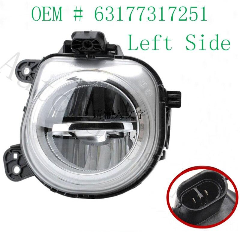 Luz antiniebla LED LH de lado izquierdo de alta calidad 63177317251 para BMW X3 X4 X5 X6, iluminación de repuesto para reparación de automóviles 5 En 1 medidor de distancia láser telémetro 700M modo de día de niebla + distancia Horizontal + medidor de velocidad telémetro láser de caza