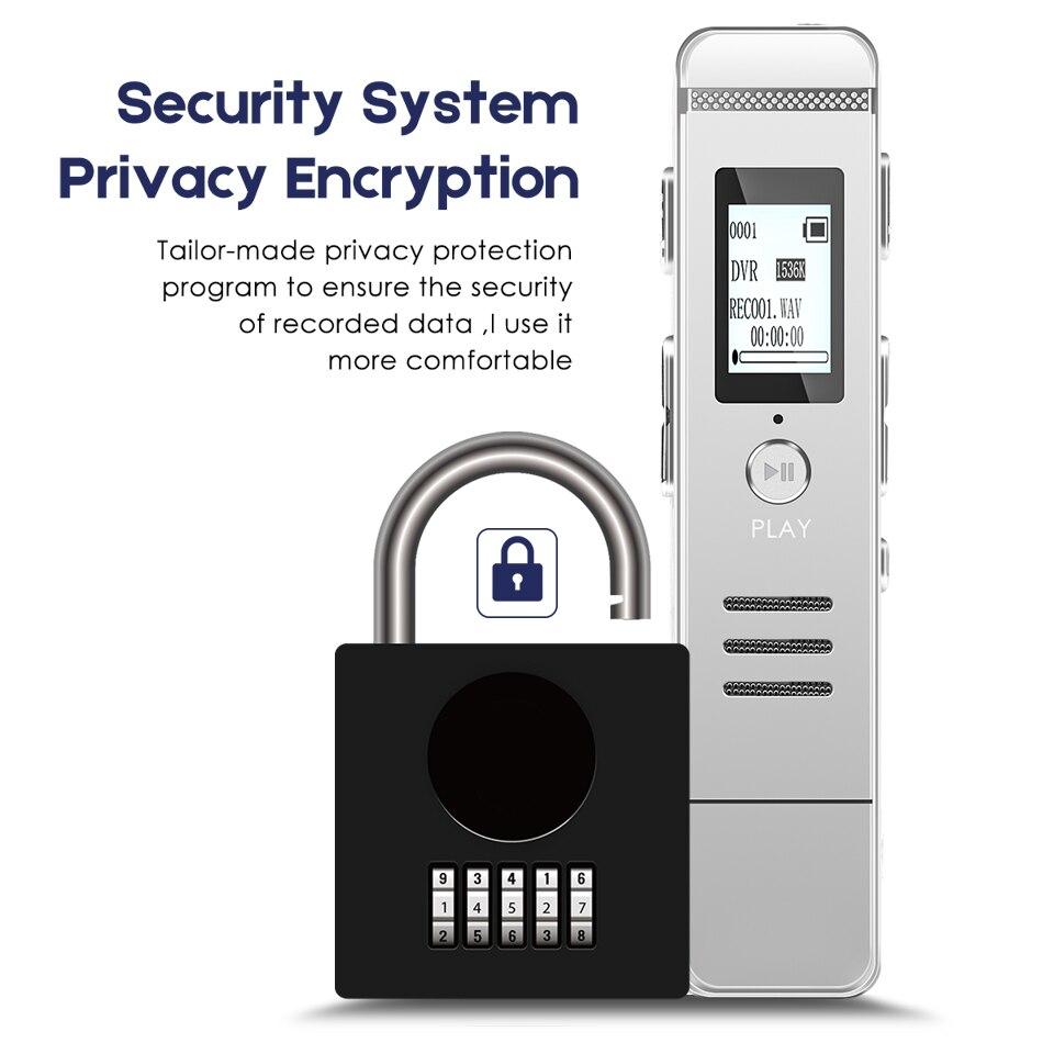 Password Protection USB Mp3 Hifi Recorder Dictaphone Mini Registrar Hidden Sound Microphone Stereo Sound Recording DSP Chip