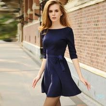 Платье, женское весна и осень один частей элегантный свитер базовые трикотаж платье женщины темперамент платье vestidos