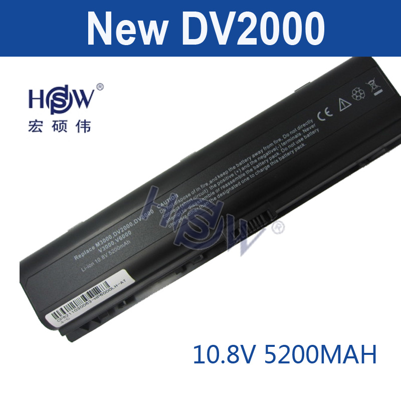 HSW 5200MAH DV2000 laptop Battery for HP Pavilion DV6000 G6000 G7000 COMPAQ Presario V3000 V6000 A900 C700 F500 F700 bateria brass pipe hex bushing reducer fittings 1 2 male x 1 8 female npt