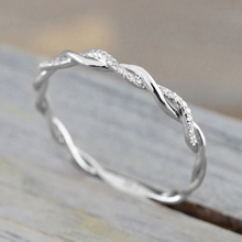 HOMOD 2019 Hight Quality Women Twisted Shape Engagement Ring Stacking Matching Band Anniversary Beach Rings Dropshipping