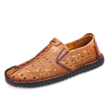 New Summer Comfortable Casual Shoes Loafers Man Shoes Quality Split Leather Shoes Men Flats Hot Sale Moccasins Shoes sneaker