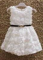 Летом Стиль Специальное Предложение Джерси гольфы Бальное платье Elsa 2015 новая Девушка Платье Принцессы Baby Дети Все Роза С цвет