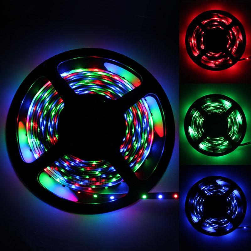 RGB SMD 2835 LED Strip Light 300 LEDs / 5M New Year String Ribbon  RGB Colors High Quality LED Flexible Home Decoration Lamp