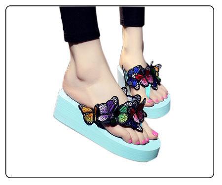58439dc2304ec7 ... summer women wedge sandals cute platform thong slippers cartoon doraemon  hawaiian sandal beach shoes mules clogs ...