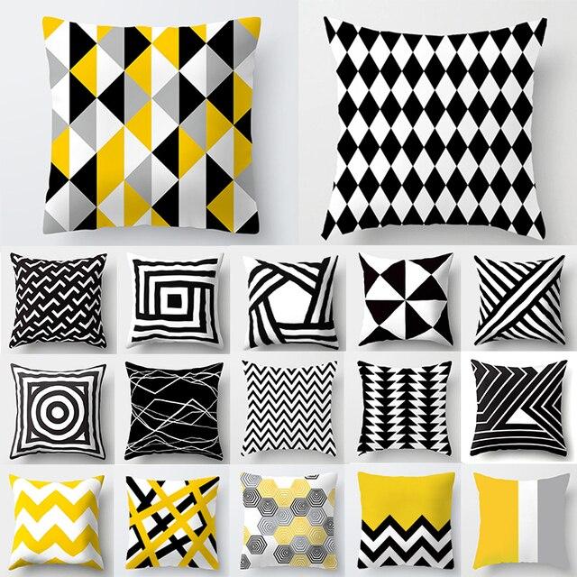 Cojines Decorativos Para Divano Fodere per Cuscini Giallo Cuscino Geometrica Pol