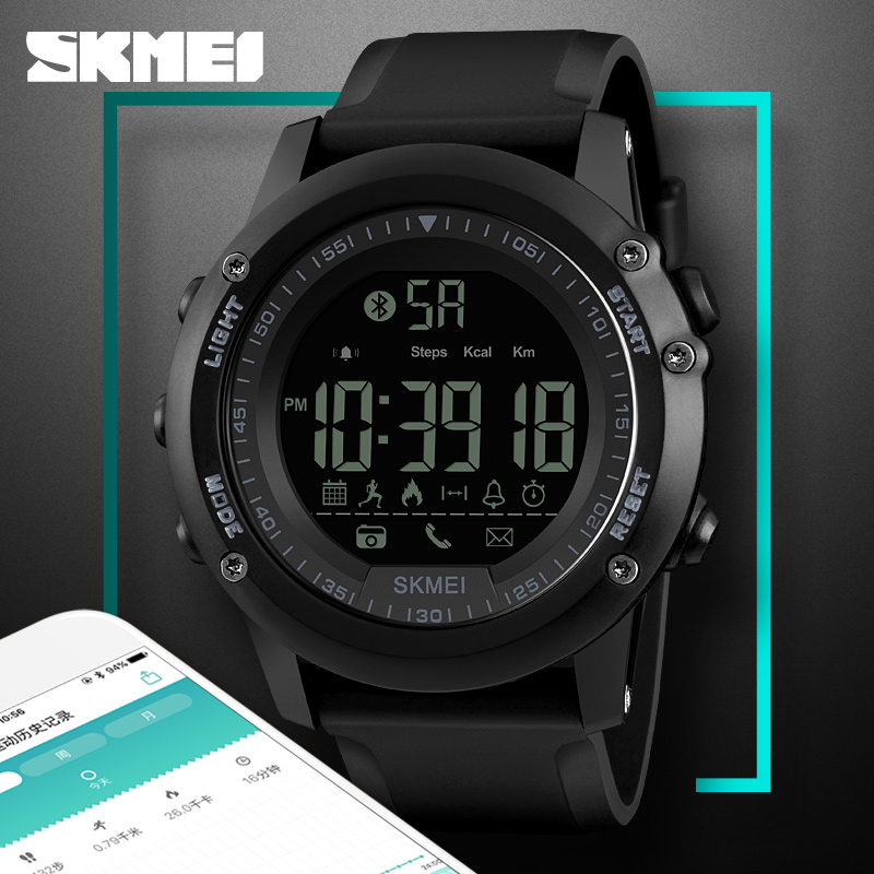 SKMEI Sport Smart Watches Impermeable al aire libre Bluetooth Remote - Relojes para hombres