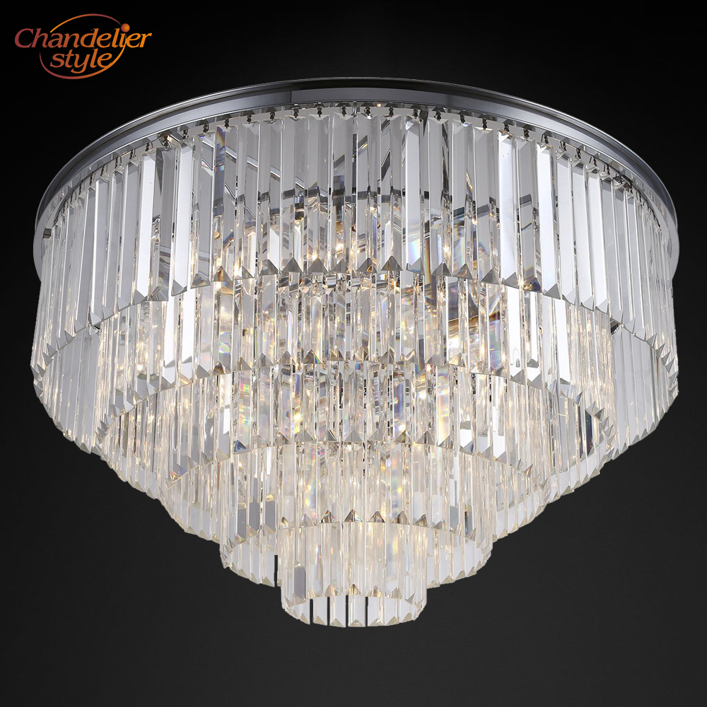 Modern Crystal Prism Ceiling Light Luxury Cristal Ceiling Lighting Flush Mount Ceiling Lamp for Home Hotel