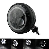Высокое качество 7 Круглый проектор Ангел глаз HID Привет/Lo светодиодный фар крепление высокое дальнего света проектор для harley Sportster