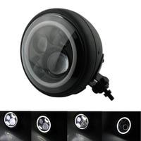 Высококачественный 7 Круглый проектор Angel Eye HID Hi/Lo светодиодный головное крепление Высокая фара проектор для Harley Sportster